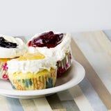 Torta de tres frutas es hermoso Fotos de archivo libres de regalías