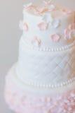 Torta de tres pisos foto de archivo libre de regalías