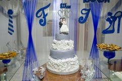 Torta de una boda Foto de archivo