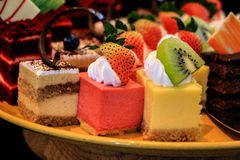 Torta de varios sabores Imágenes de archivo libres de regalías