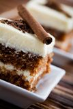 Torta de zanahoria foto de archivo libre de regalías