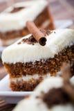 Torta de zanahoria Fotografía de archivo