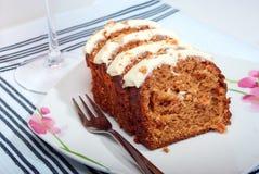 Torta de zanahoria Imágenes de archivo libres de regalías