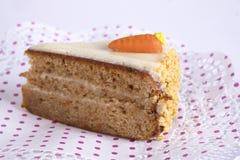 Torta de zanahoria Imagen de archivo libre de regalías