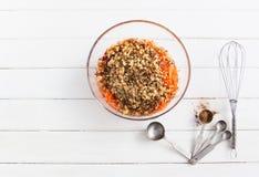 Torta de zanahoria cuaresmal Imagenes de archivo