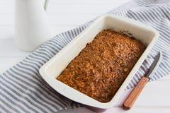 Torta de zanahoria cuaresmal Fotos de archivo libres de regalías