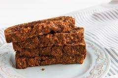 Torta de zanahoria cuaresmal Fotografía de archivo libre de regalías