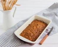Torta de zanahoria cuaresmal Foto de archivo libre de regalías
