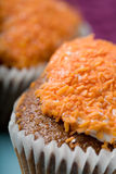Torta de zanahoria deliciosa Fotos de archivo libres de regalías