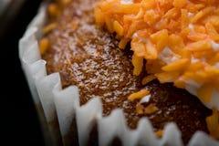 Torta de zanahoria deliciosa Imágenes de archivo libres de regalías