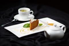 Torta de zanahoria orgánica Imágenes de archivo libres de regalías
