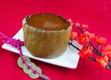 Torta del Año Nuevo de chino tradicional Foto de archivo libre de regalías