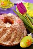 Torta del anillo de Pascua Fotografía de archivo