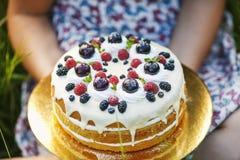 torta del arándano Fotos de archivo libres de regalías