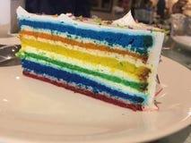 Torta del arco iris Imagen de archivo libre de regalías
