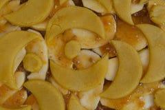 Torta del atasco del albaricoque y de la manzana imágenes de archivo libres de regalías