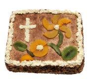 Torta del bautizo Fotografía de archivo libre de regalías