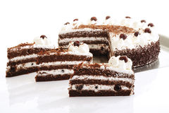 Torta del bosque negro Foto de archivo libre de regalías