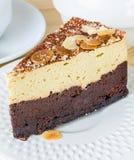 Torta del brownie Foto de archivo libre de regalías