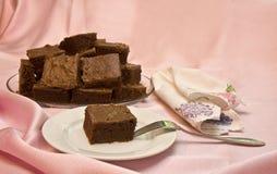 Torta del brownie fotos de archivo libres de regalías