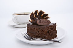 Torta del brownie con guarnizione crema di lusso Immagine Stock Libera da Diritti