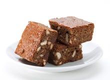 Torta del brownie del cioccolato Fotografie Stock