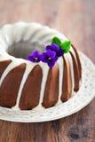 Torta del bundt del chocolate Imagen de archivo
