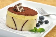Torta del cacao y de la vainilla Imagenes de archivo
