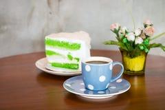 Torta del café y de coco Imagen de archivo