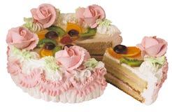 Torta del caramelo con crema Foto de archivo libre de regalías
