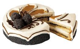 Torta del caramelo con los gérmenes de amapola Imagenes de archivo