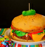Torta del cheeseburger Immagine Stock Libera da Diritti