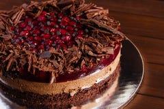 Torta del chocolate y de la cereza Imágenes de archivo libres de regalías