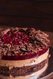 Torta del chocolate y de la cereza Imagenes de archivo