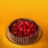 Torta del chocolate y de la fresa Fotografía de archivo