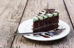 Torta del choholate de la menta Fotografía de archivo libre de regalías