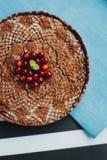 Torta del cioccolato con la ricotta immagini stock libere da diritti
