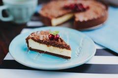 Torta del cioccolato con la ricotta fotografia stock libera da diritti