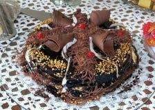 Torta del cioccolato, delizioso dolce fotografie stock libere da diritti