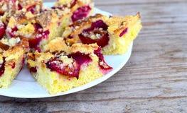 Torta del ciruelo Foto de archivo libre de regalías