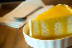 Torta del clepe del mango Imagen de archivo libre de regalías