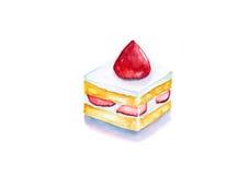 Torta del cortocircuito de la fresa Imagen de archivo libre de regalías