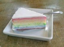 Torta del crespón Imagen de archivo libre de regalías
