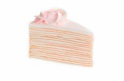 Torta del crespón aislada en el fondo blanco Imágenes de archivo libres de regalías