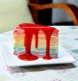 Torta del crespón del arco iris Fotos de archivo libres de regalías