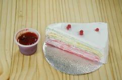Torta del crespón del arco iris Fotografía de archivo libre de regalías