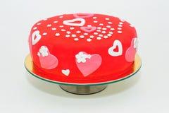 Torta del día de tarjetas del día de San Valentín Imagen de archivo libre de regalías
