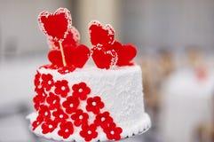 Torta del día de tarjetas del día de San Valentín Foto de archivo