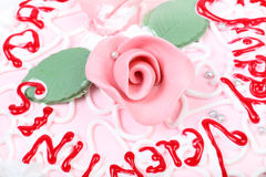 Torta del día de San Valentín Fotos de archivo libres de regalías