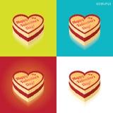 Torta del día de tarjetas del día de San Valentín Imágenes de archivo libres de regalías